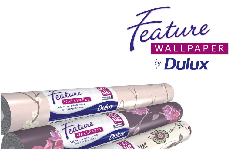 dulux feature wallpaper
